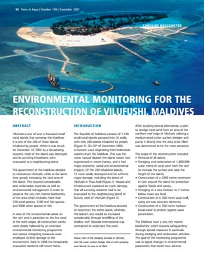 Environmental Monitoring for the Reconstruction of Vilufushi, Maldives