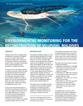 Environmental Monitoring for the Reconstruction of Vilufushi, Maldives