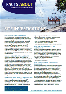 """Facts About Site Investigations"" describes the many aspects of an investigation and why they are an integral part of all marine construction projects."