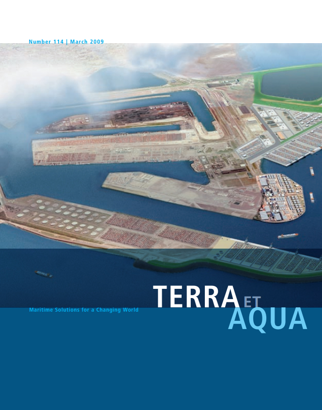 An artist's rendering of the proposed Maasvlakte 2. This extension of the Port of Rotterdam has required extensive environmental studies and impact assessments to ensure the protection of the adjoining Voordelta (Fore-Delta) which is a legally protected Natura 2000 area (see page 20).