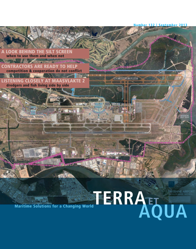 Aerial plan of the Brisbane Airport, where a New Parallel Runway is being built: This runway is a critical part of Brisbane Airport Corporation's multi-billion dollar investment into capacity-building infrastructure. The challenges of this project were met with early contractor and stakeholder involvement to determine what was achievable within the confines of an operating airport (see page 13).