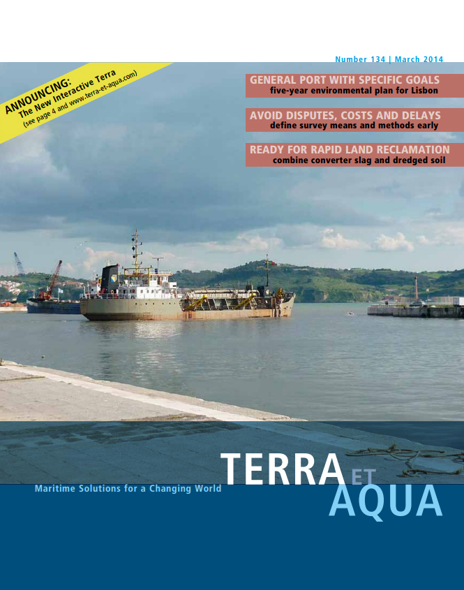 Dredging at the Port of Lisbon. In order to obtain five-year environmental licences which would expedite the regular and systematic dredging of the beds of its access channels and manoeuvring and anchorage basins, the Port of Lisbon Authority developed new strategic plans for dredging and monitoring within the Tagus estuary (see page 5).