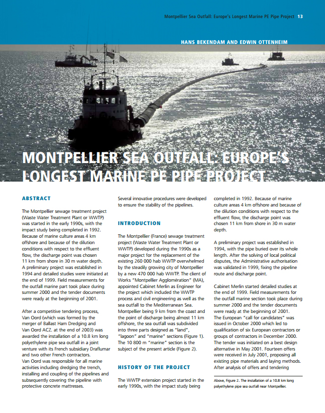 Montpellier Sea Outfall: Europe's Longest Marine PE Pipe Project