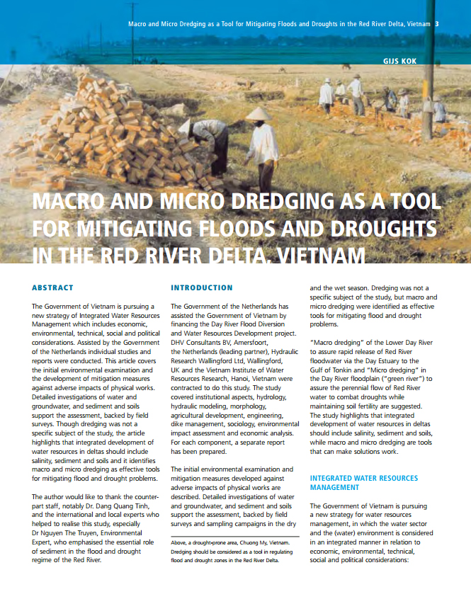 Macro and Micro Dredging as a Tool for Mitigating Floods and Droughts in the Red River Delta, Vietnam