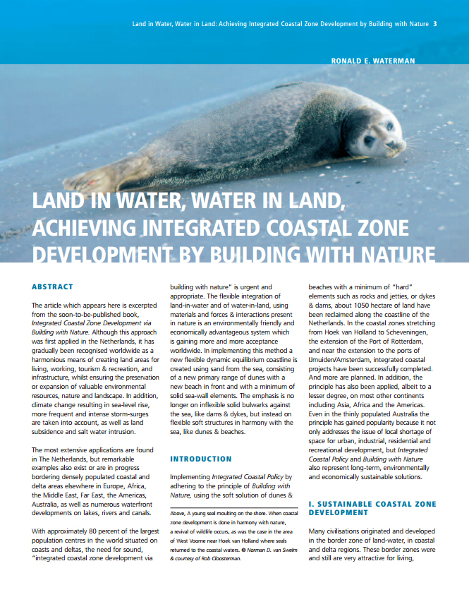 Land in Water, Water in Land: Achieving Integrated Coastal Zone Development by Building with Nature