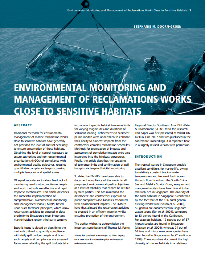 Environmental Monitoring and Management of Reclamations Works Close to Sensitive Habitats