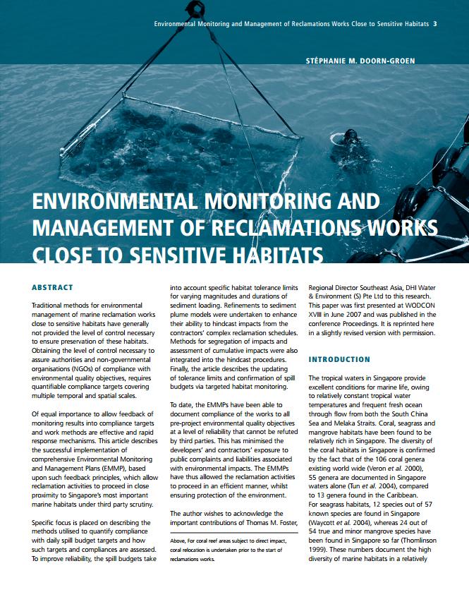 Environmental Monitoring and Management of Reclamations Works Close to Sensitive Habitats