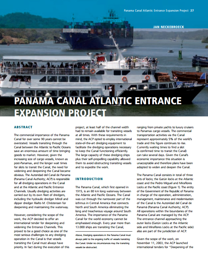 Panama Canal Atlantic Entrance Expansion Project
