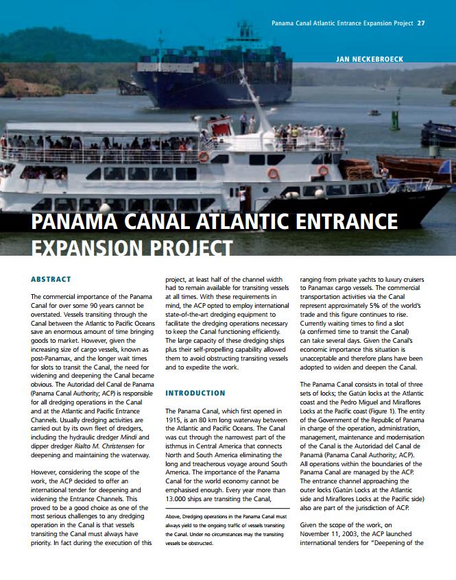 Panama Canal Atlantic Entrance Expansion Project