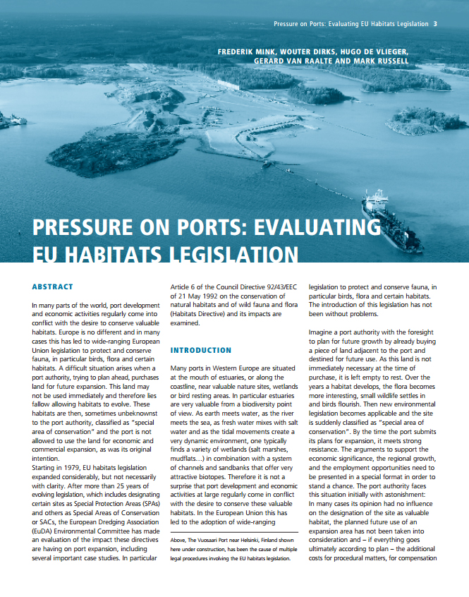Presure on Ports: Evaluating EU Habitats Legislation