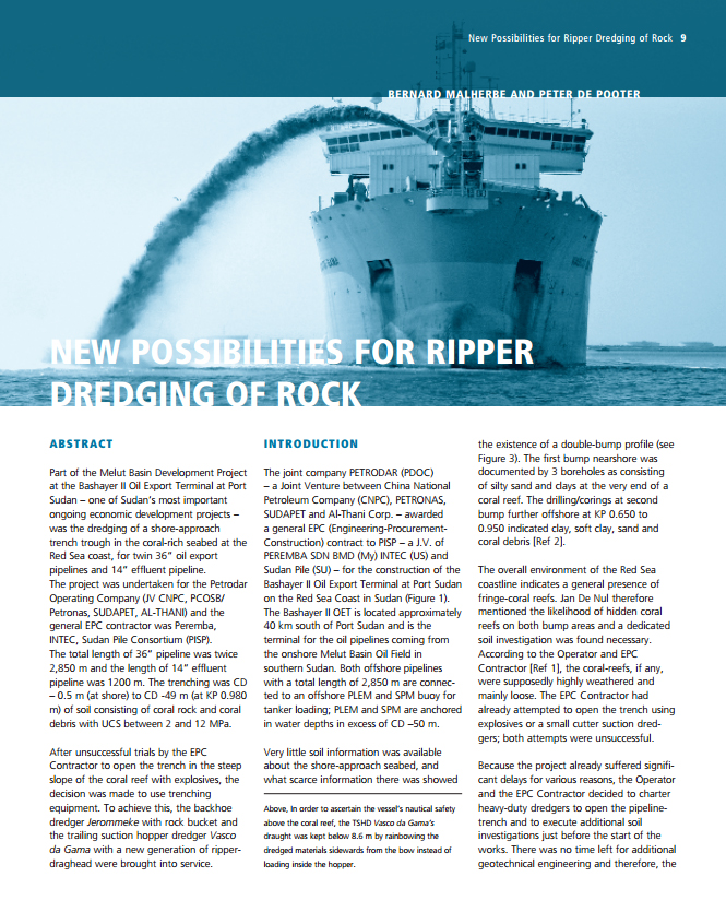 New possibilities for Ripper Dredging of Rock