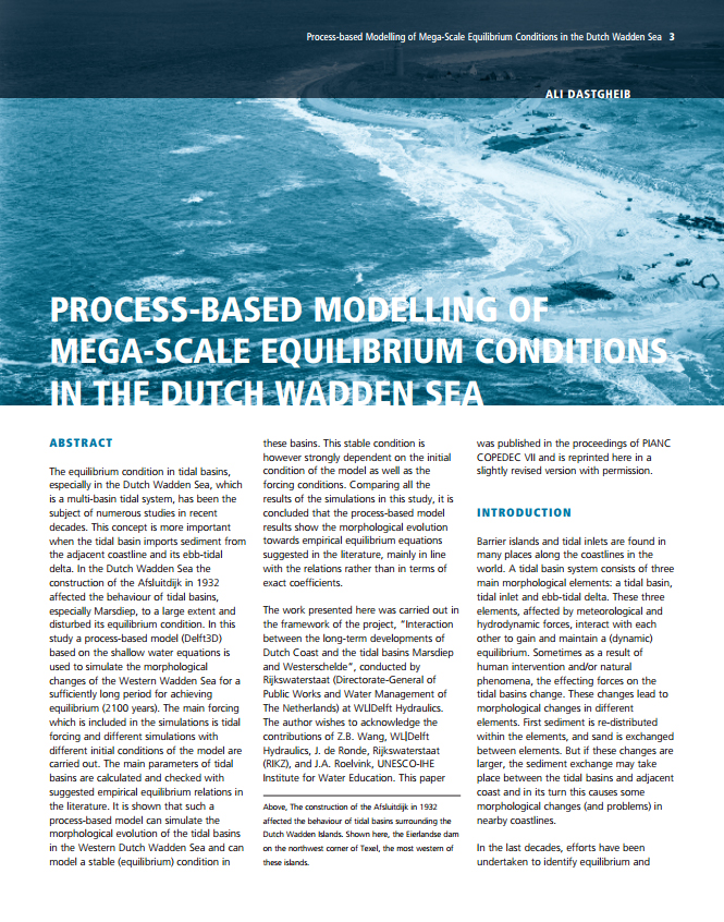 Process-based Modelling of Mega-Scale Equilibrium Conditions in the Dutch Wadden Sea