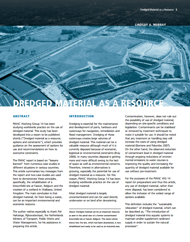 Dredged Material as a Resource