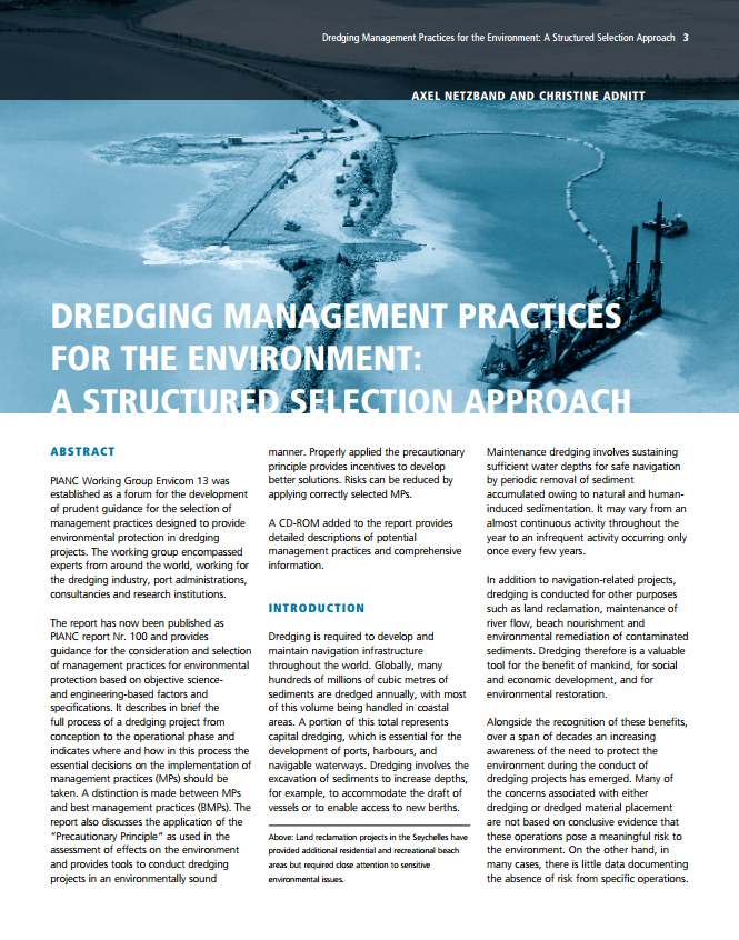 Dredging Management Practices for the Environment: A Structured Selection Approach