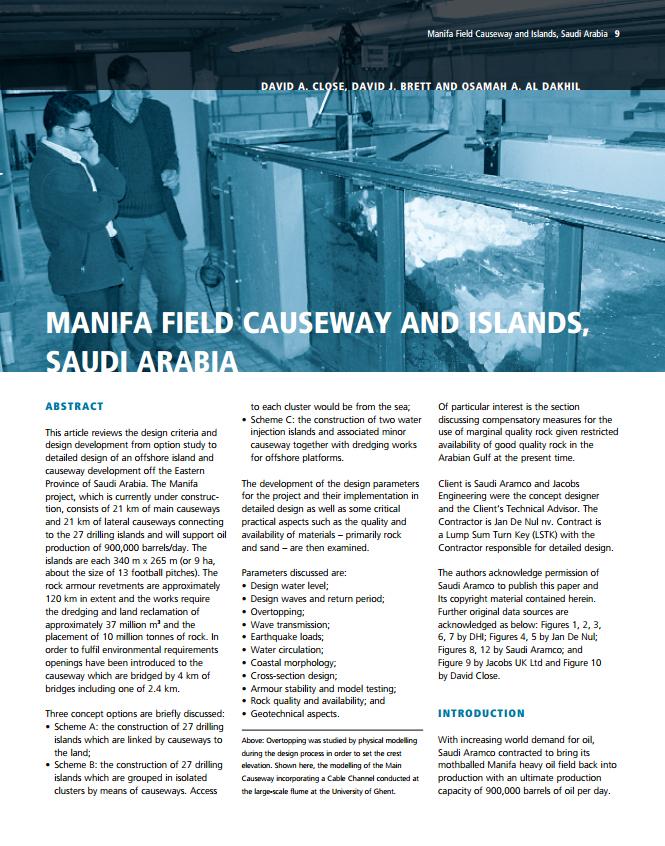 Manifa Field Causeway and Islands, Saudi Arabia