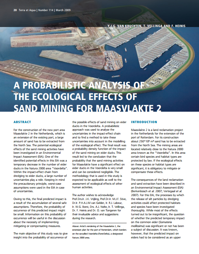 A Probabilistic Analysis of the Ecological Effects of Sand Mining for Maasvlakte 2