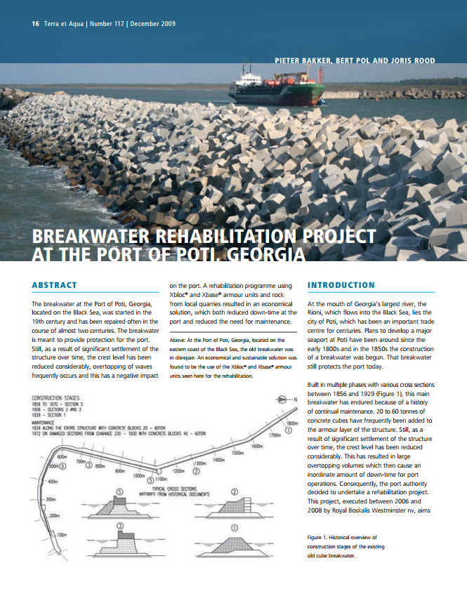 Breakwater Rehabilitation Project at the Port of Poti, Georgia
