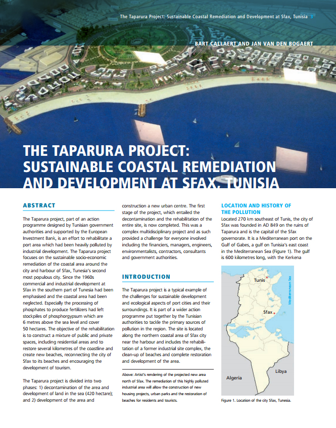 The Taparura Project: Sustainable Coastal Remediation and Development at Sfax, Tunisia