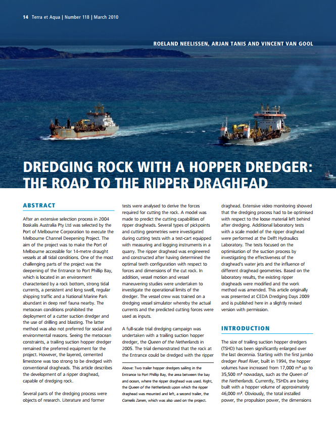 Dredging Rock with a Hopper Dredger: The Road to the Ripper Draghead