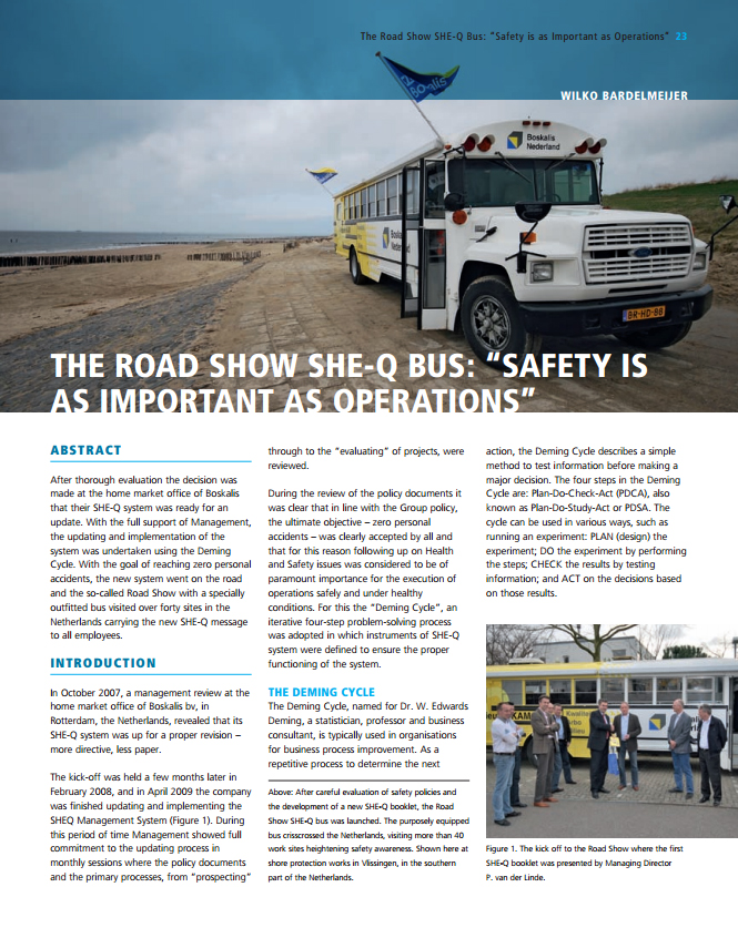 "The Road Show She-Q Bus: ""Safety is as Important as Operations"""