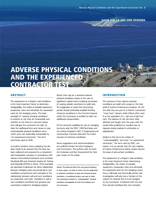 Adverse Physical Conditions and the Experienced Contractor Test