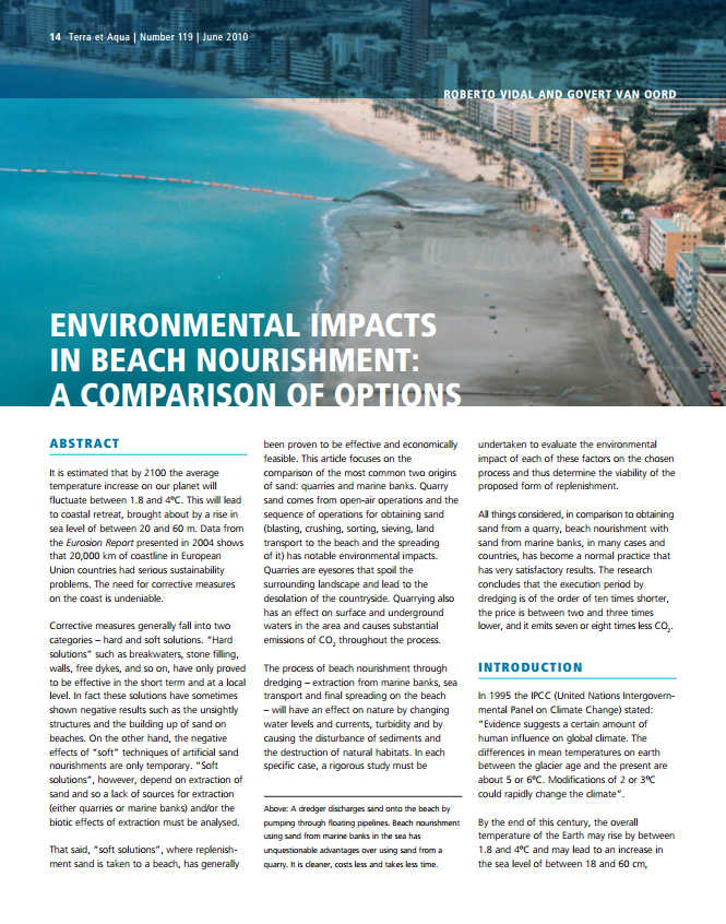 Environmental Impacts in Beach Nourishment: A Comparison of Option