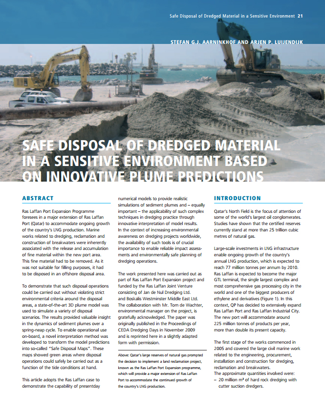 Safe Disposal of Dredged Material in a Sensitive Environment