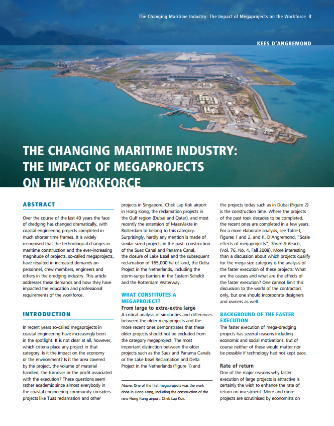 The Changing Maritime Industry: The Impact of Megaprojects on the Workforce