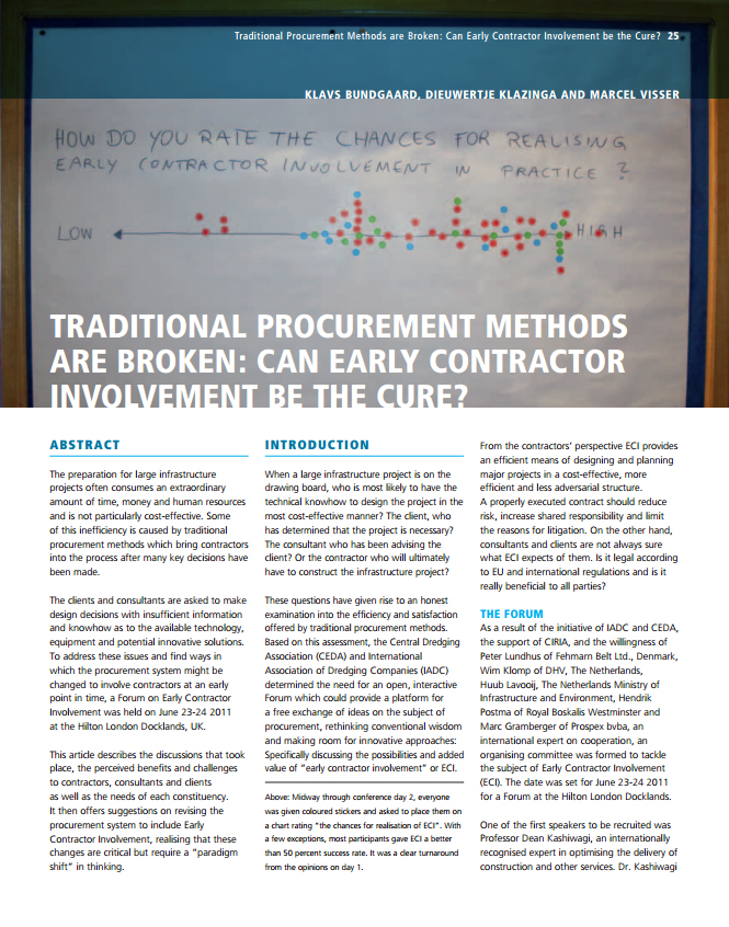Traditional Procurement Methods are Broken: Can Early Contractor Involvement be the Cure?