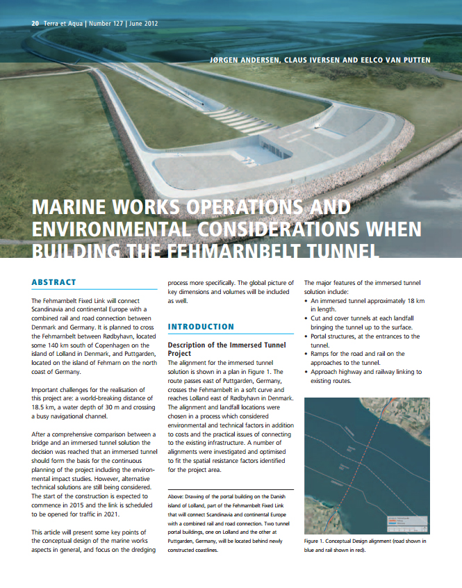 Marine Works Operations and Environmental Considerations When Building the Fehmarnbelt Tunnel