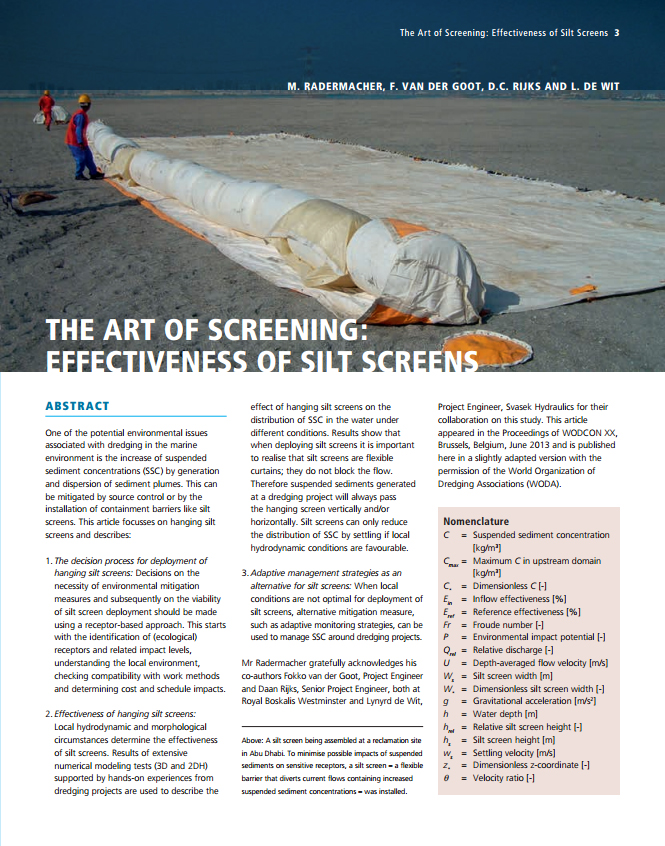 The Art of Screening: Effectiveness of Silt Screens