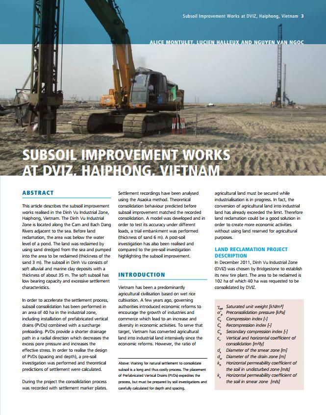 Subsoil Improvement Works at DVIZ, Haiphong, Vietnam