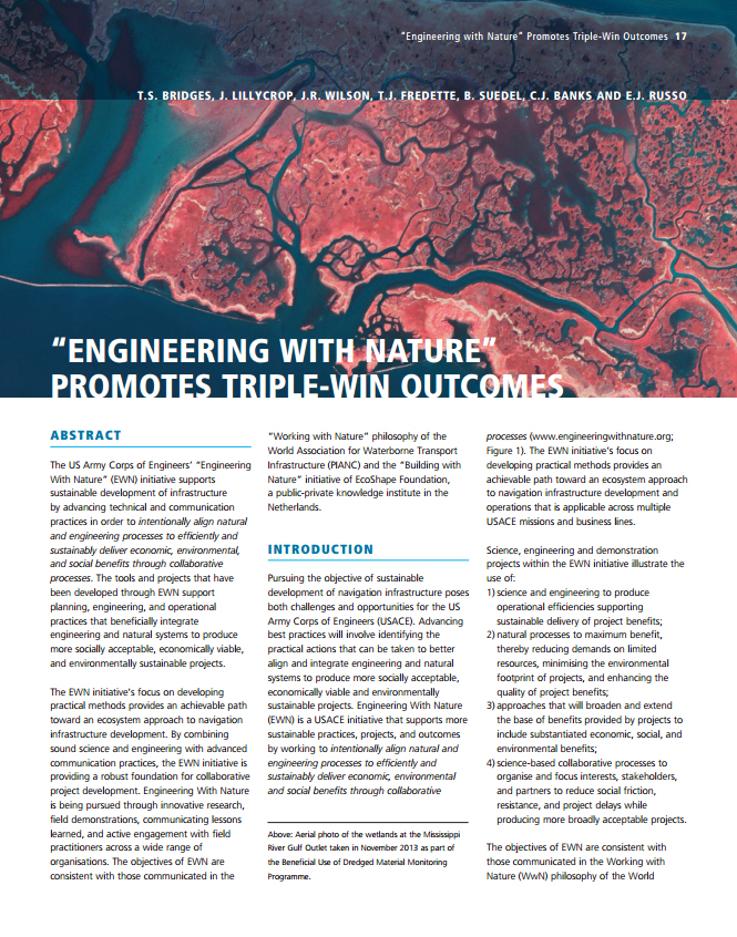 """""""Engineering with Nature"""" Promotes Triple-Win Outcomes"""