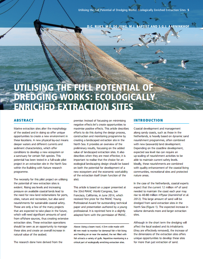 Utilising the Full Potential of Dredging Works: Ecologically Enriched Extraction Sites