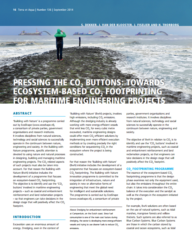 Pressing the Co2 Buttons: Towards Ecosystem-Based Co2 Footprinting for Maritime Engineering Projects