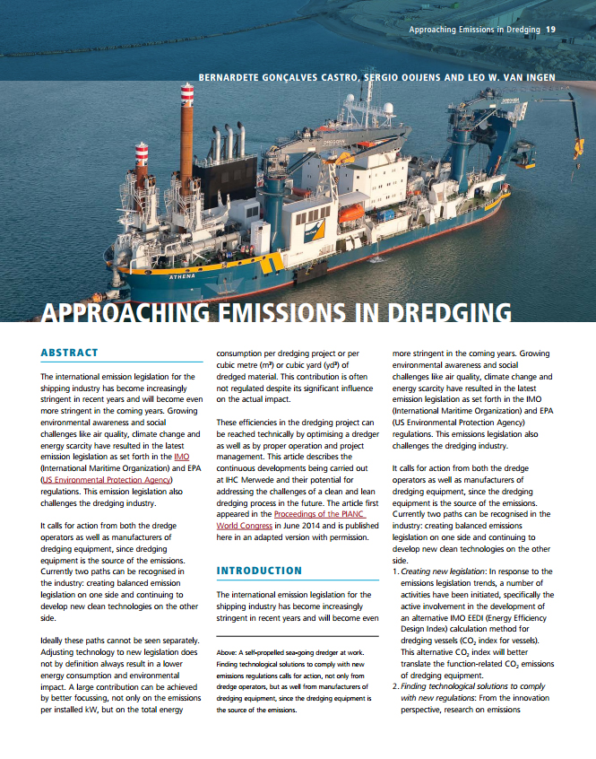Approaching Emissions in Dredging