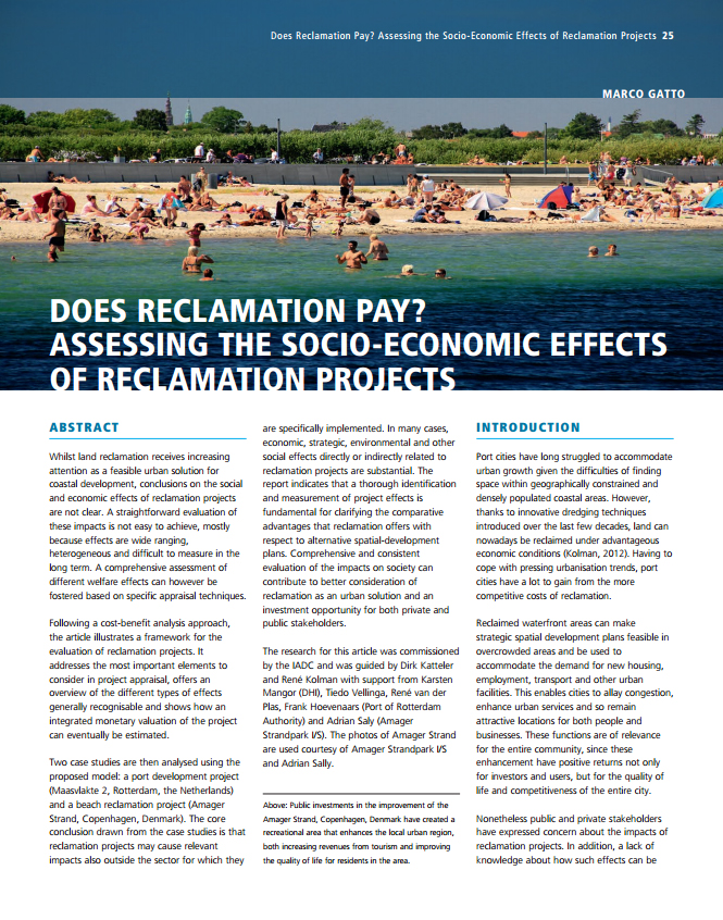 Does Reclamation Pay? Assessing the Socio-Economic Effects of Reclamation Projects