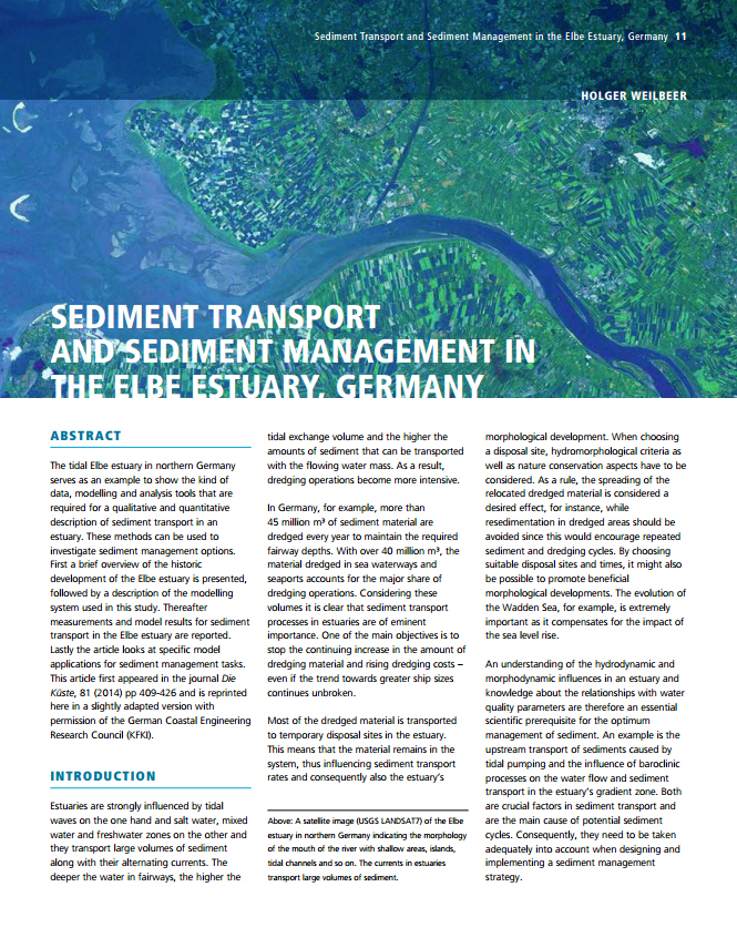 Sediment Transport and Sediment Management in the Elbe Estuary, Germany