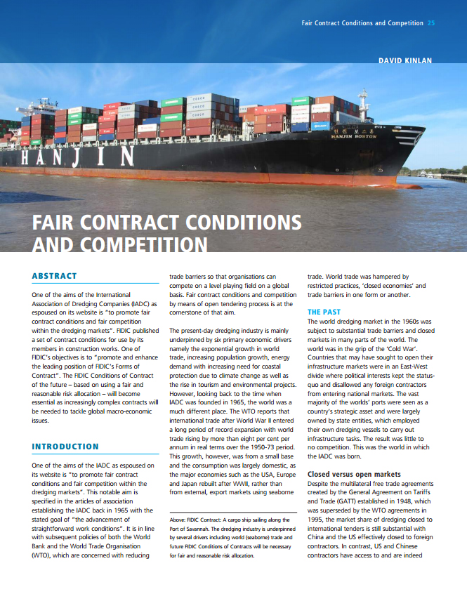 Fair contract conditions and competition