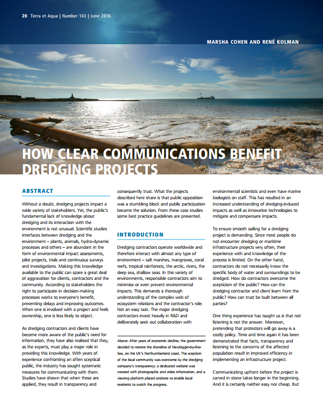 How Clear Communications Benefit Dredging Projects