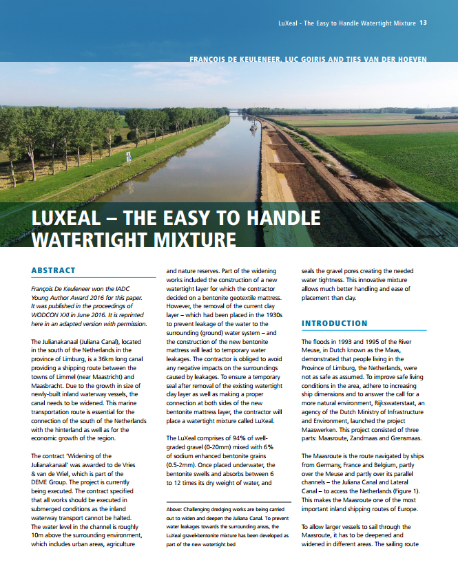 LuXeal - The Easy to Handle Watertight Mixture