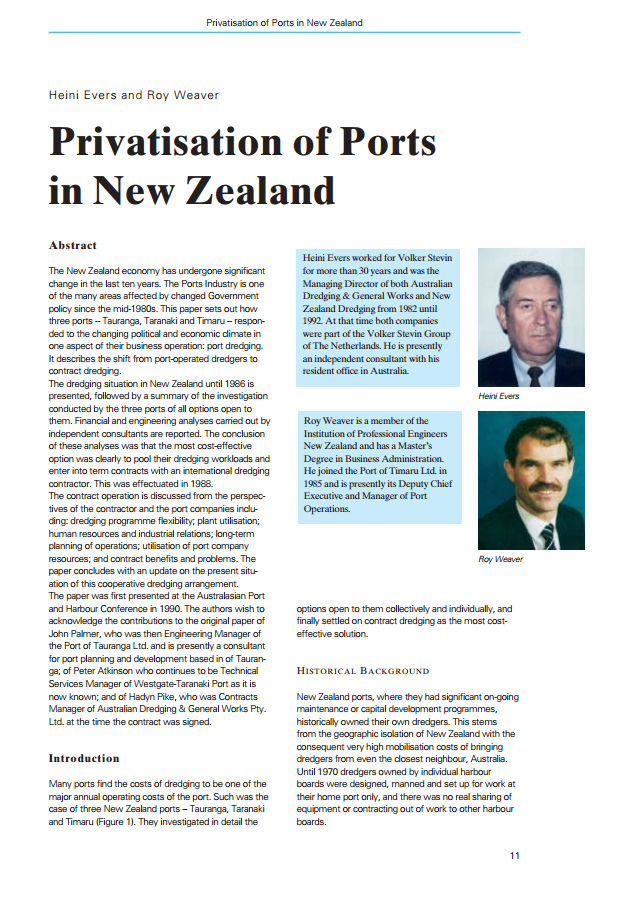 Privatisation of Ports in New Zealand