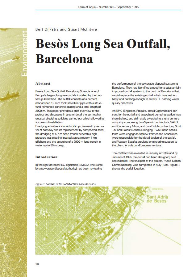 Besòs Long Sea Outfall, Barcelona