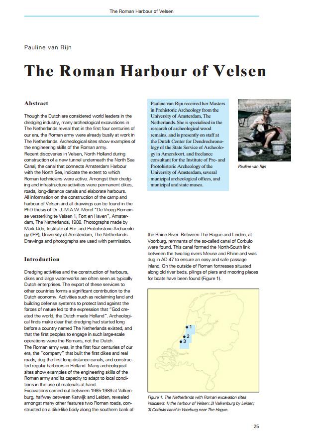 The Roman Harbour of Velsen