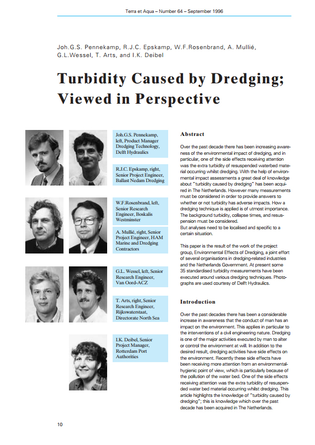 Turbidity Caused by Dredging; Viewed in Perspective