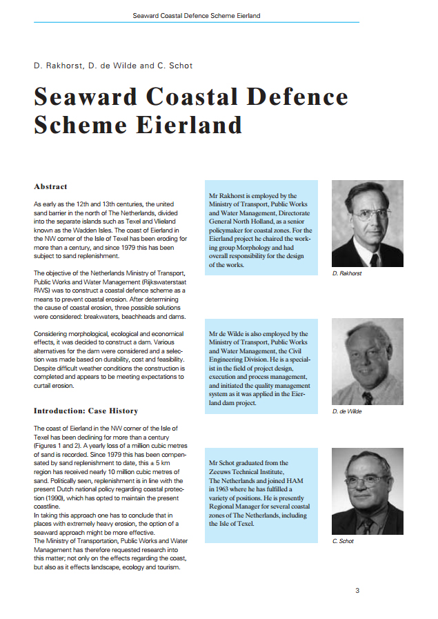 Seaward Coastal Defence Scheme Eierland