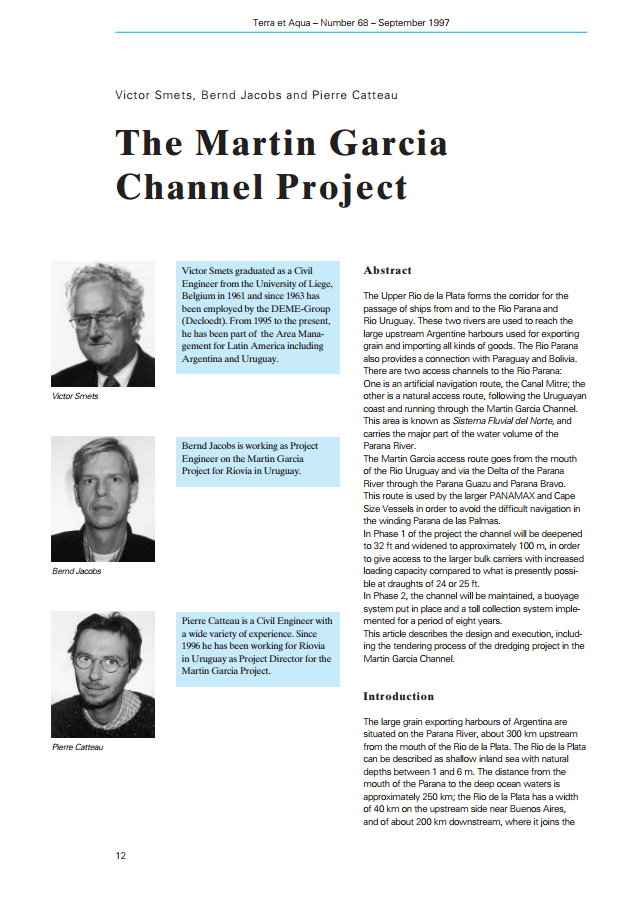 The Martin Garcia Channel Project
