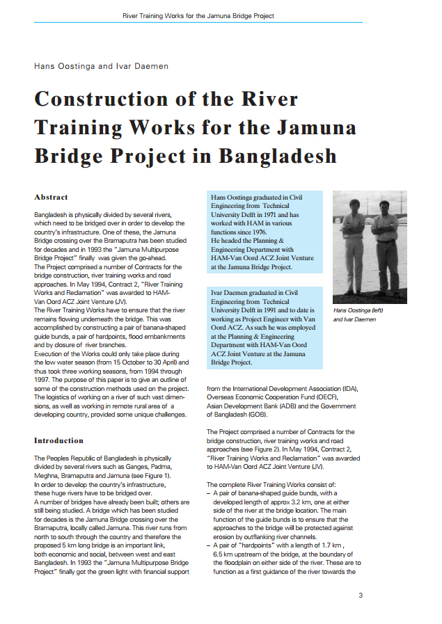 Construction of the River Training Works for the Jamuna Bridge Project in Bangladesh
