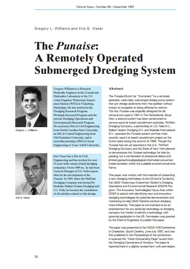 The Punaise: A Remotely Operated Submerged Dredging System