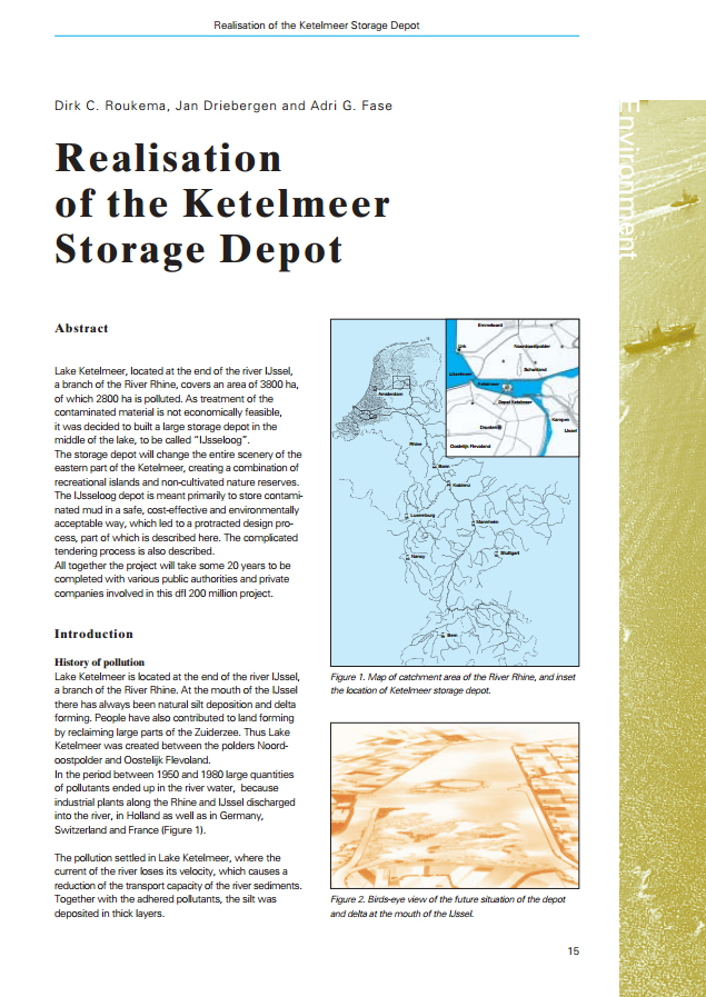 Realisation of the Ketelmeer Storage Depot